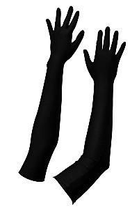 Satijnen handschoenen zwart s-l