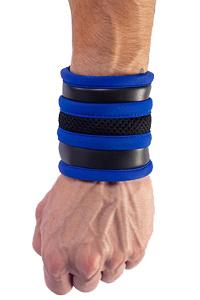 Mister b neoprene wrist wallet black blue