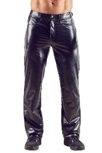 M. imitat. leather trousers