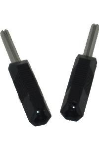 Electrastim pin converter kit 2 mm. to 4 mm.