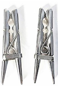 Stainless steel clothespins 2 pcs. set