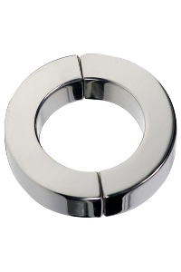 Magnetic hinged cock ring polished - 40 mm.