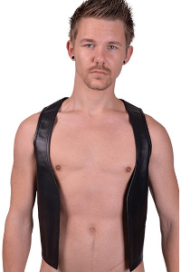 Mister b leather muscle vest