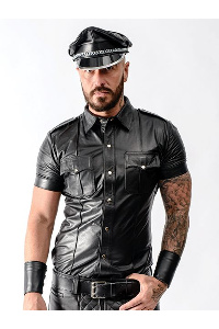 Mister b sheep leather police shirt