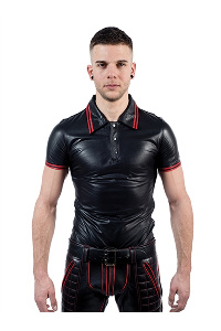 Poloshirt red stripe