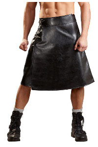 M. imitation leather skirt