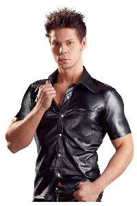 Fake leather men�s shirt