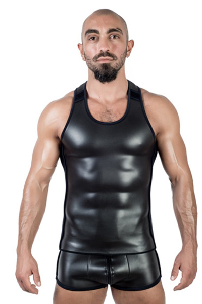 Mister b neoprene tank top black